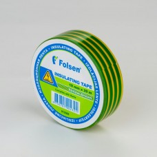 Insulating Tape 19mmx20m yello/green, Folsen