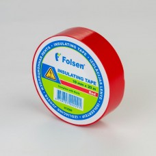 Insulating Tape 19mmx20m Red, Folsen