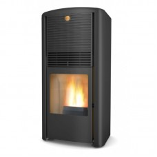 Pellet stove Lilla Frö with integrated chimney system