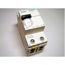 RCD 1-phase 25 A, 30mA (0.03A), Schneider Electric, Acti9-ilD, A9Z21225, 044298