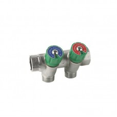 Manifold with valves 3/4''x3/4'' 2-way