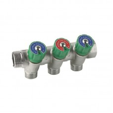 Manifold with valves 3/4''x3/4'' 3-way