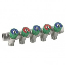 Manifold with valves 3/4''x3/4'' 5-way